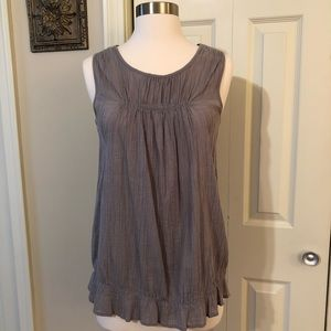 Mossimo Sleeveless Crinkled Cotton Top